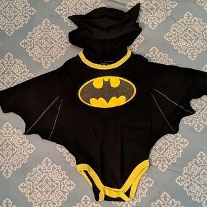 Batman Bat Cape Onesie with hood Baby 12 Months